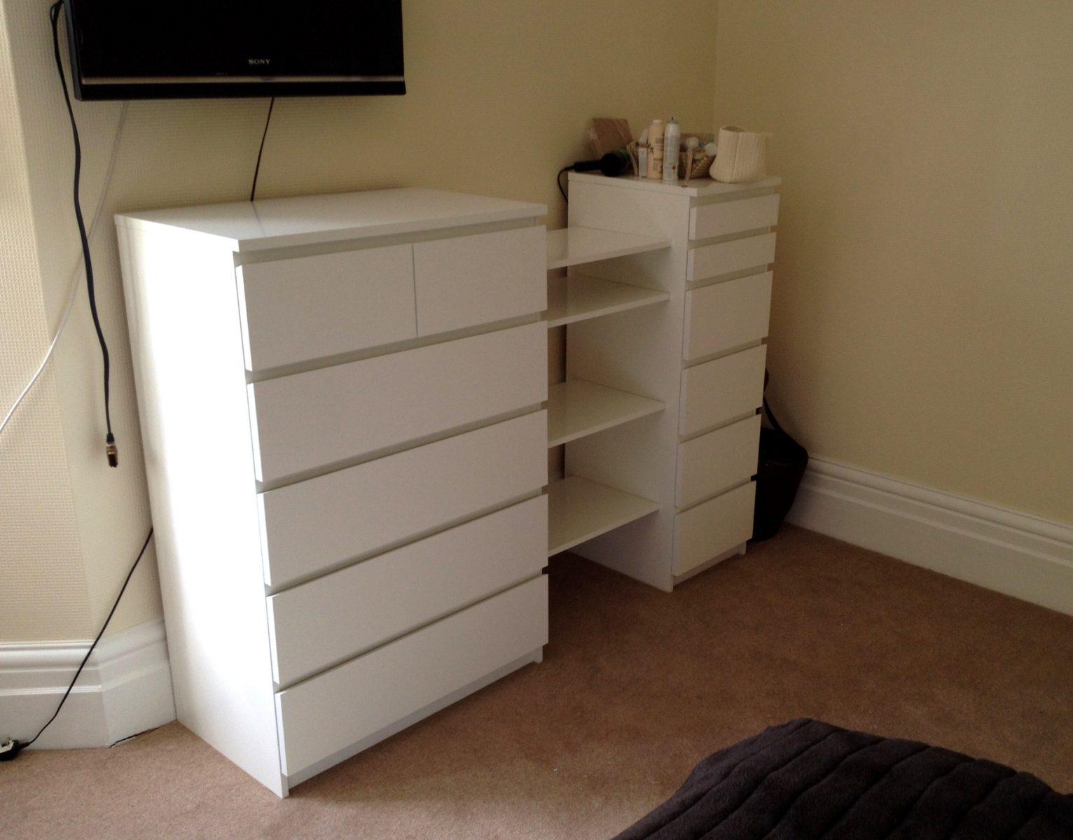 IKEA Malm drawers & Besta shelf hack by Flat Pack Dan