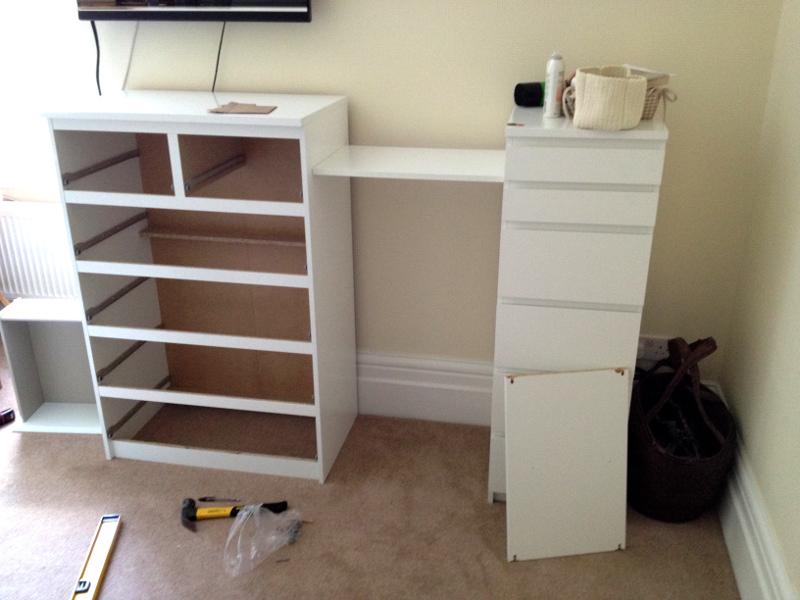 Ikea Malm Drawers Amp Besta Shelf Hack Flat Pack Dan Limited