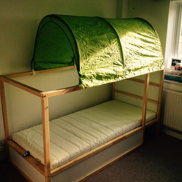 Childs reversible #ikea #bunk #bed with tent assembled for a customer in #shorehambysea
