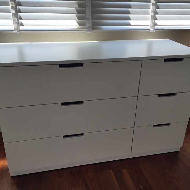 Ikea Nordli 6 drawer chest assembly. #ikea #Brighton