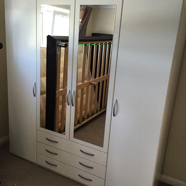 Argos Hallingford 4 door 3 door wardrobe assembly. #heavy!