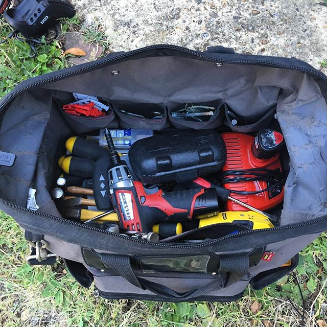 Tool bag tidied and about 5kg lighter! #MilwaukeeTools #FlatPackAssembly