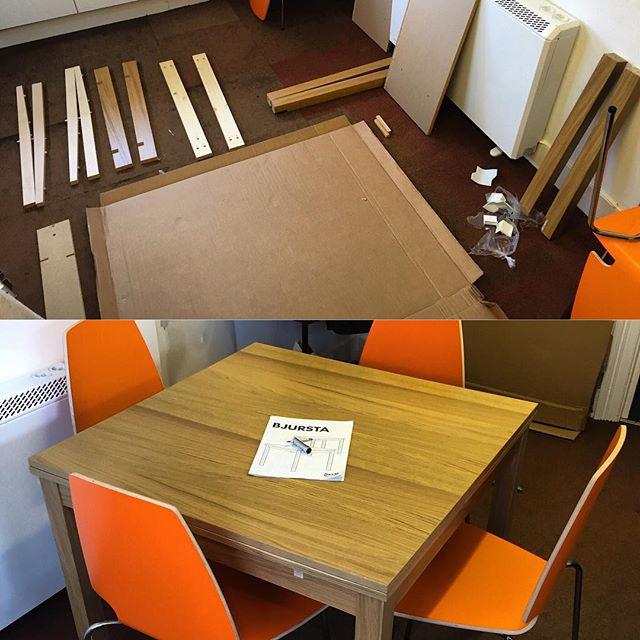 Ikea Bjursta Extendable Dining Table Assembly Flat Pack Dan