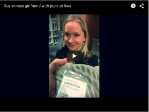 Guy Annoys his Girlfriend with IKEA puns