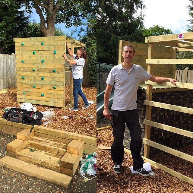 climbing frame & play house assembly sussex