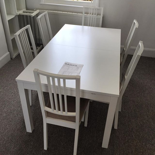 Ikea Bjursta Extendable Dining Table Assembly Hove