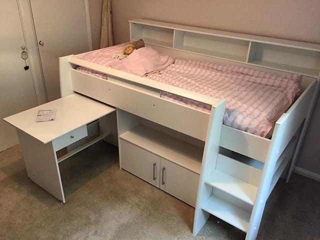 Mid Sleeper Bed With Desk Assembly Steyning Flat Pack Dan