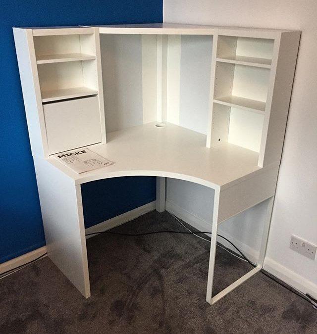 ikea corner desk assembly brighton flat pack dan. Black Bedroom Furniture Sets. Home Design Ideas