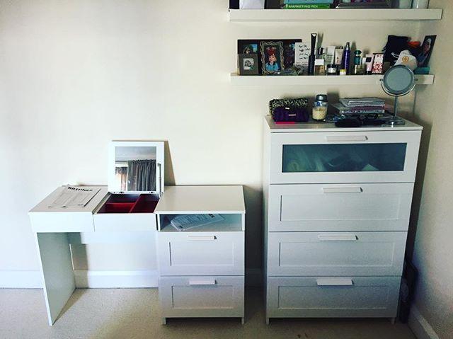 Ikea Brimnes Desk Chest Embly