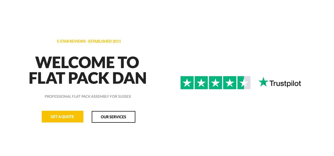 Flat Pack Dan website header slider
